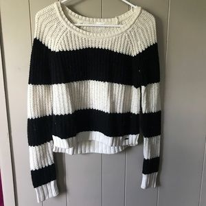 Black & White striped chunky sweater